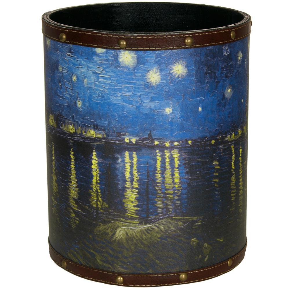 Oriental Furniture 8.25 in. x 10 in. Van Gogh Over the Rhone Waste Basket