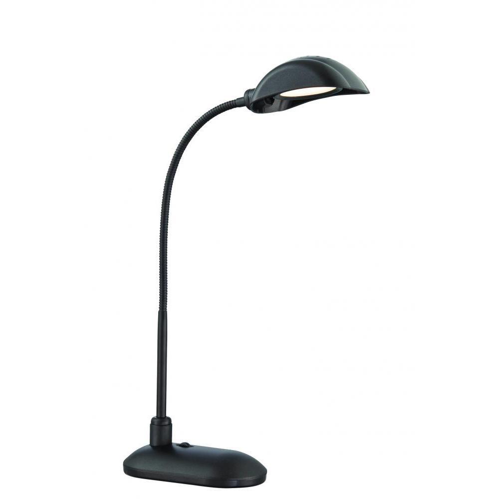 19 in. Black Gooseneck Desk Lamp