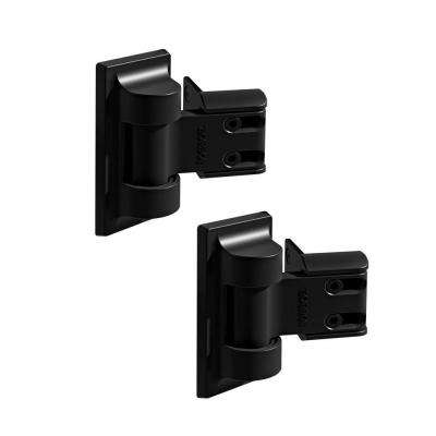 6.5 in. x 7.25 in. Black Light Duty Gate Hinge (2-Pack)