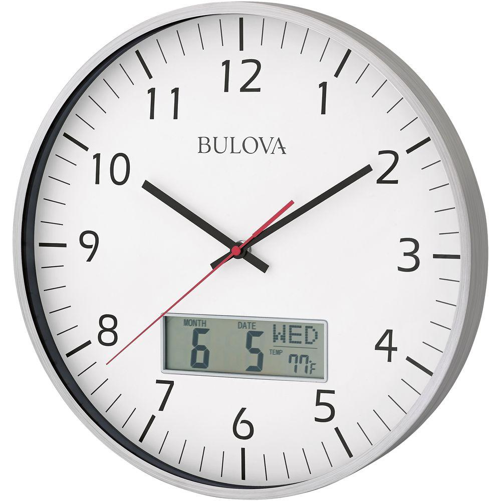 Bulova 14 In H X 14 In W Round Wall Clock C4810 The
