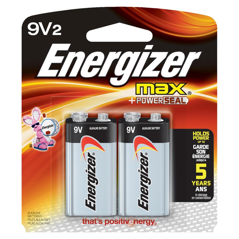Energizer Max Alkaline 9-Volt Batteries (2-Pack)