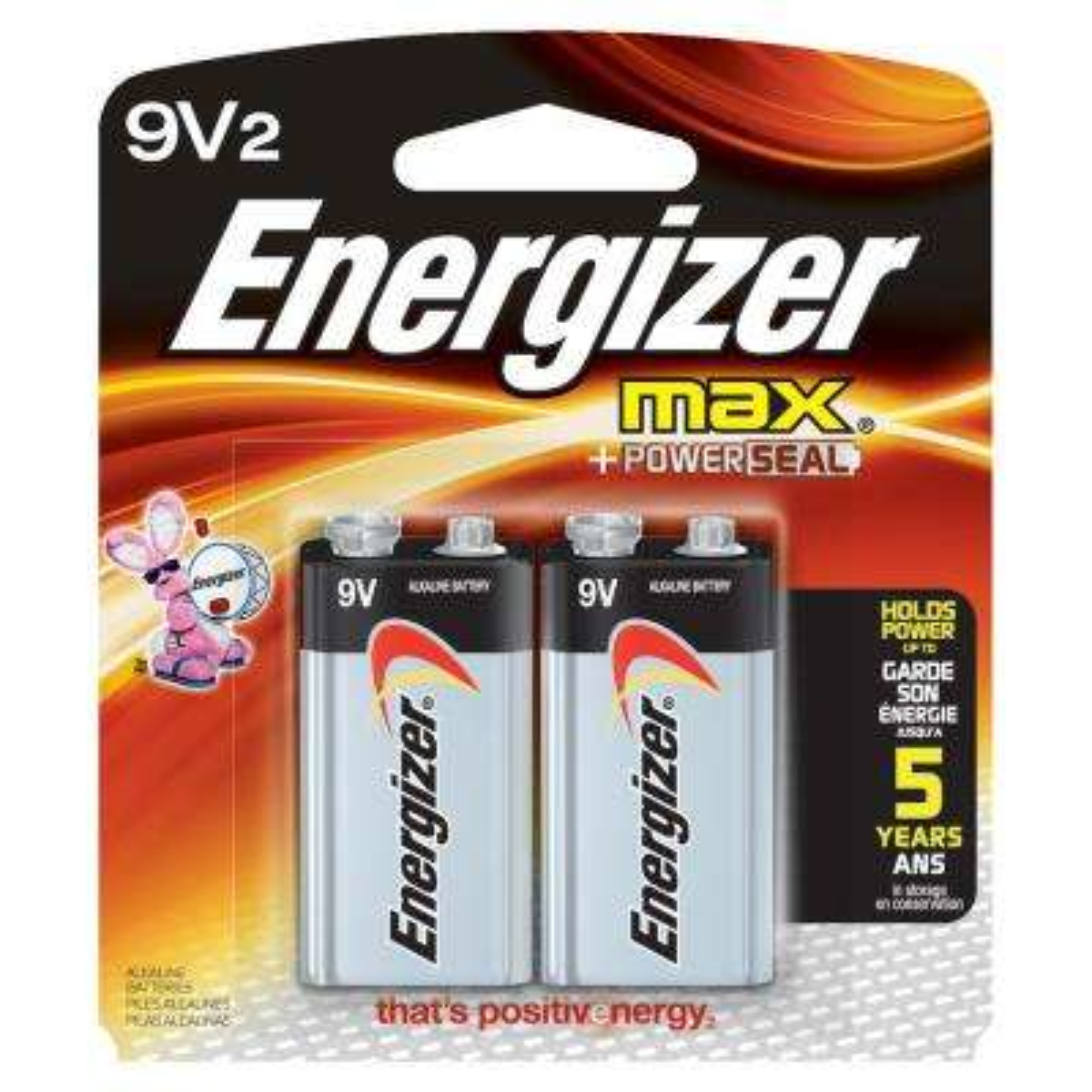MAX Alkaline 9-Volt Battery (2-Pack)