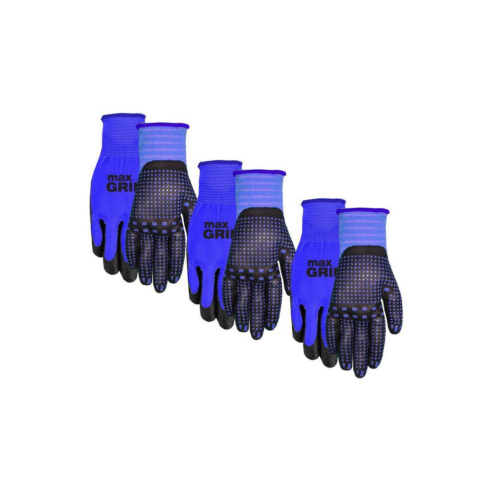 Men's Max Grip Gloves (3-Pack)