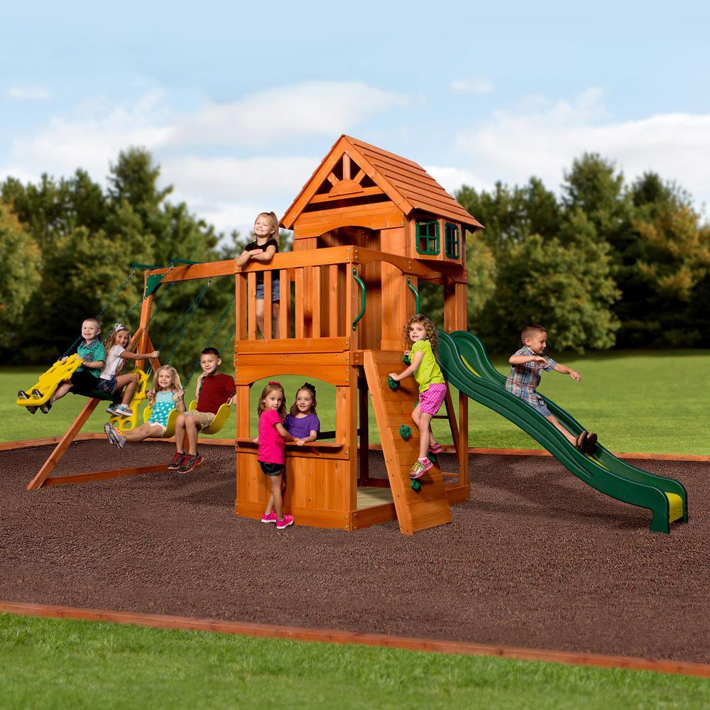 Backyard Discover Atlantis All Cedar Swing Set