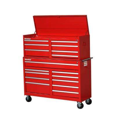 Workshop 54 in. 17-Drawer ToolSet, Red