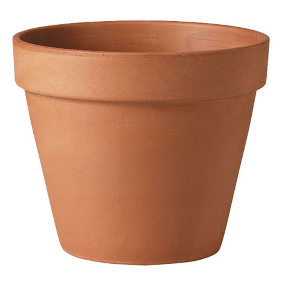 Deroma 18 1 2 In Round Terra Cotta Standard Clay Pot T Dr
