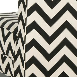 Miraculous Safavieh Armand Black And White Zig Zag Linen Cotton Accent Short Links Chair Design For Home Short Linksinfo