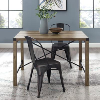 48 in. Rustic Oak Industrial Farmhouse Dining Table