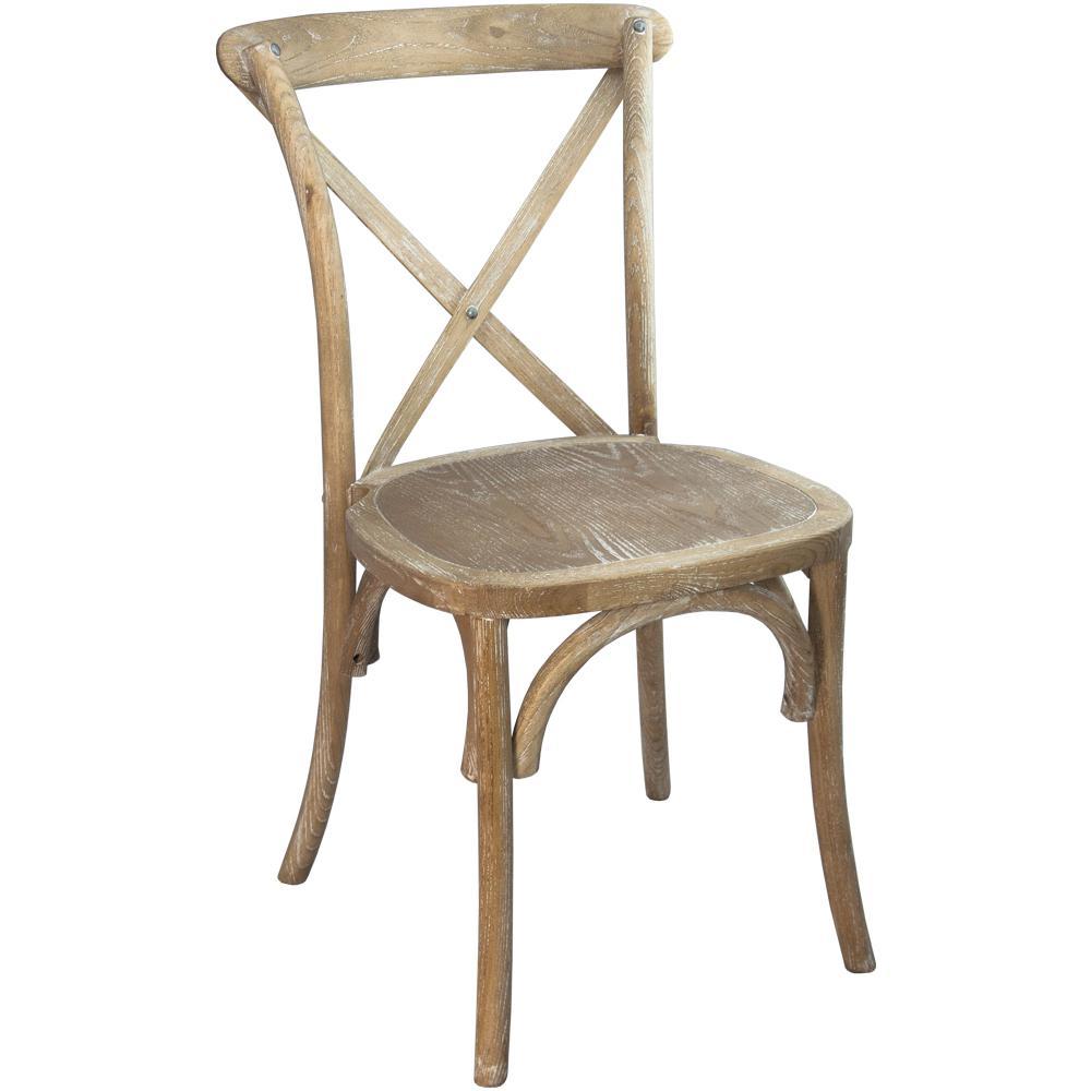 Advantage Natural With White Grain X Back Chair