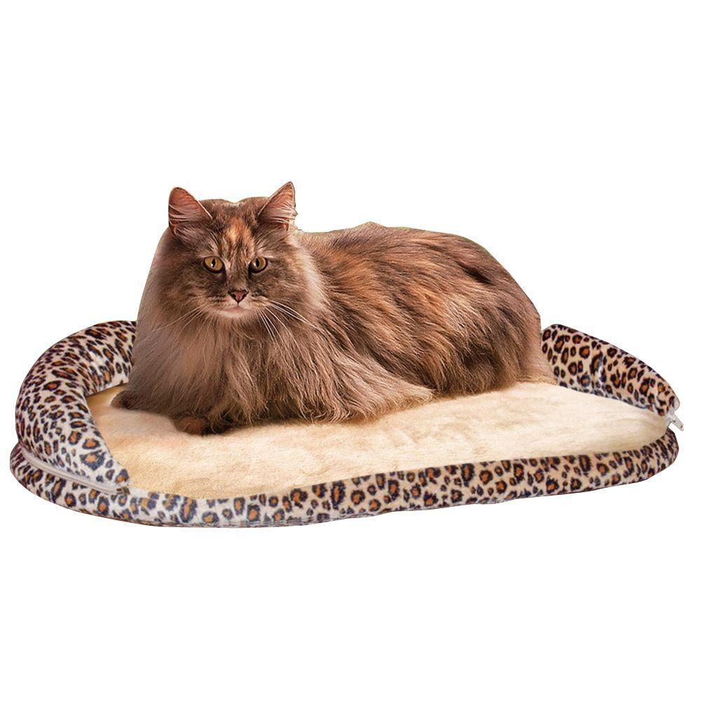 K&H Pet Products Kitty Sill Deluxe Small Leopard Window Sill Cat Seat with Bolster