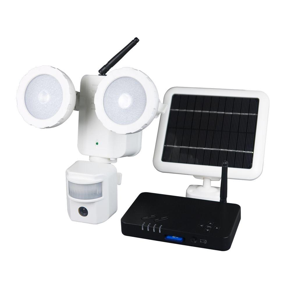 XEPA 160 Degree Outdoor Motion Activated Solar Powered White LED ...