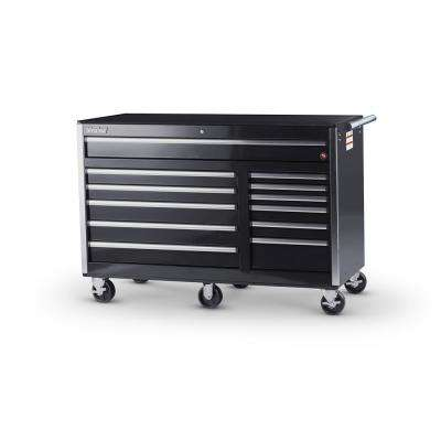 Tech Series 56 in. 12-Drawer Roller Cabinet Tool Chest in Black