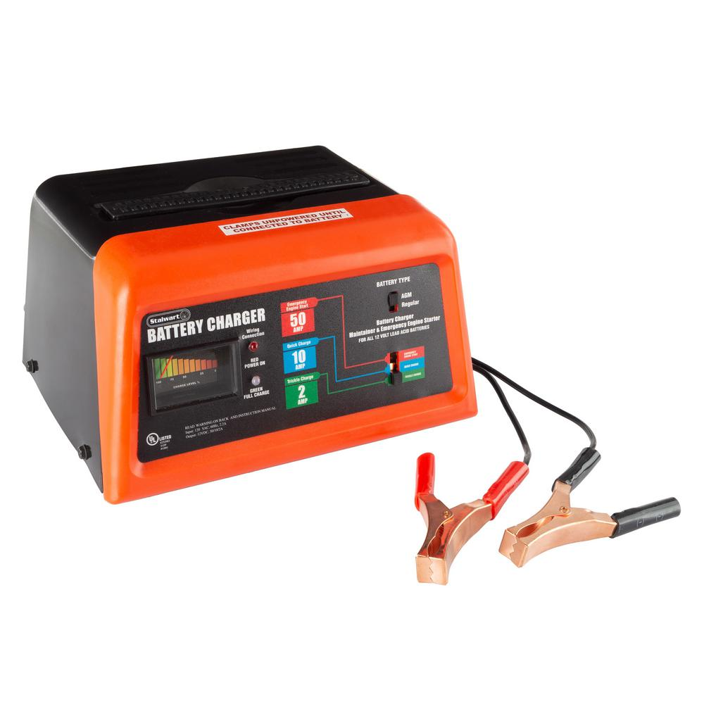 Stalwart Portable 3 Mode Automotive Battery Charger