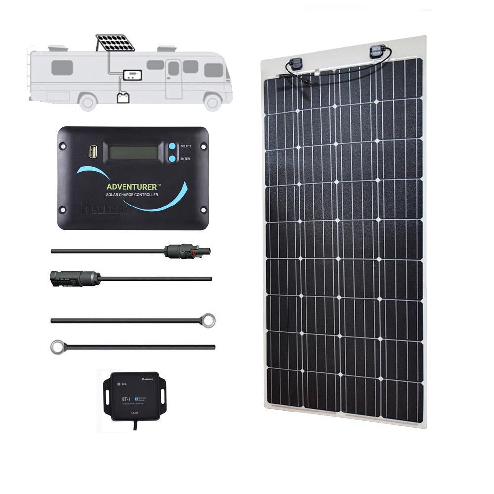 Renogy 160-Watt 12-Volt Monocrystalline RV Off-Grid Solar Power Kit