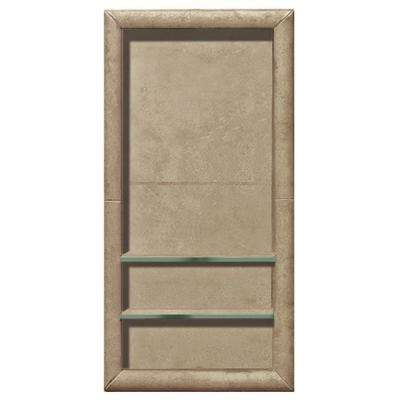 Full Tile 12 in. x 4 in. x 24 in. Shower Niche in Brown Sugar