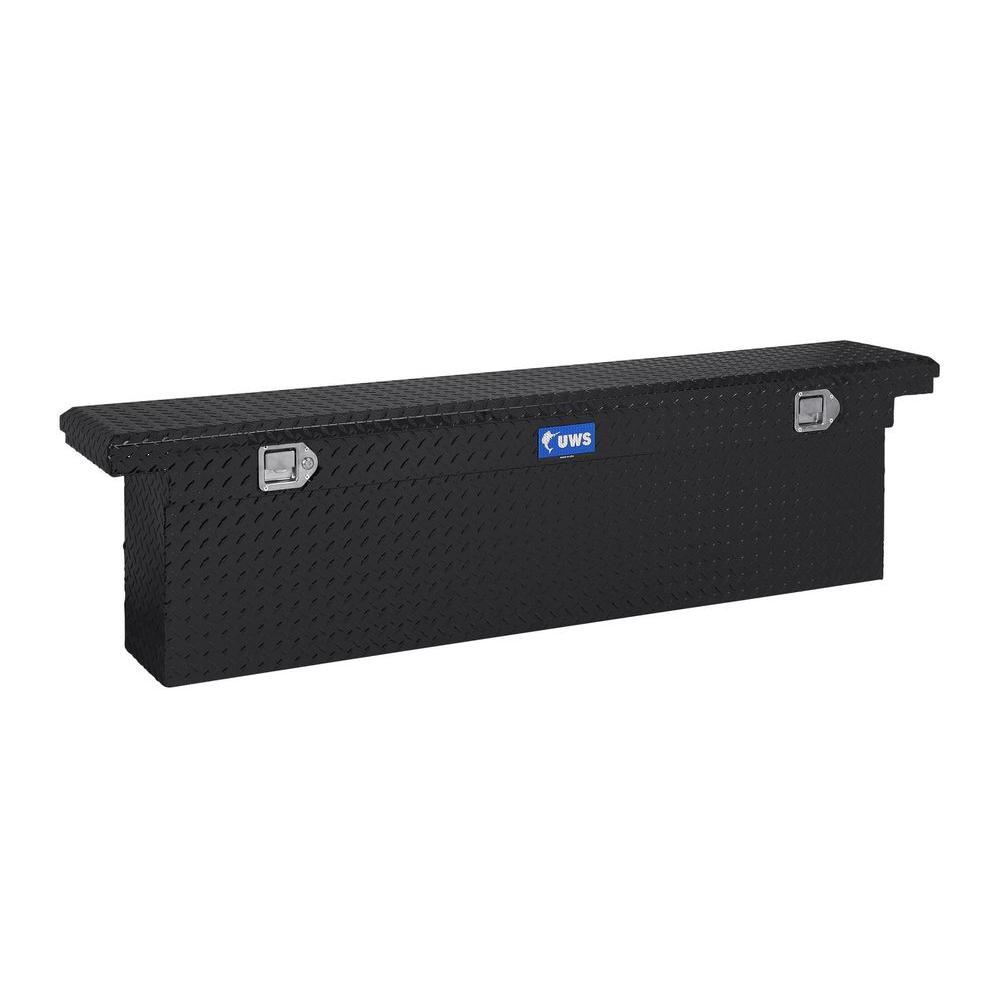 69 in. Aluminum Black Single Lid Crossover Slim Line Low Profile Deep Tool Box