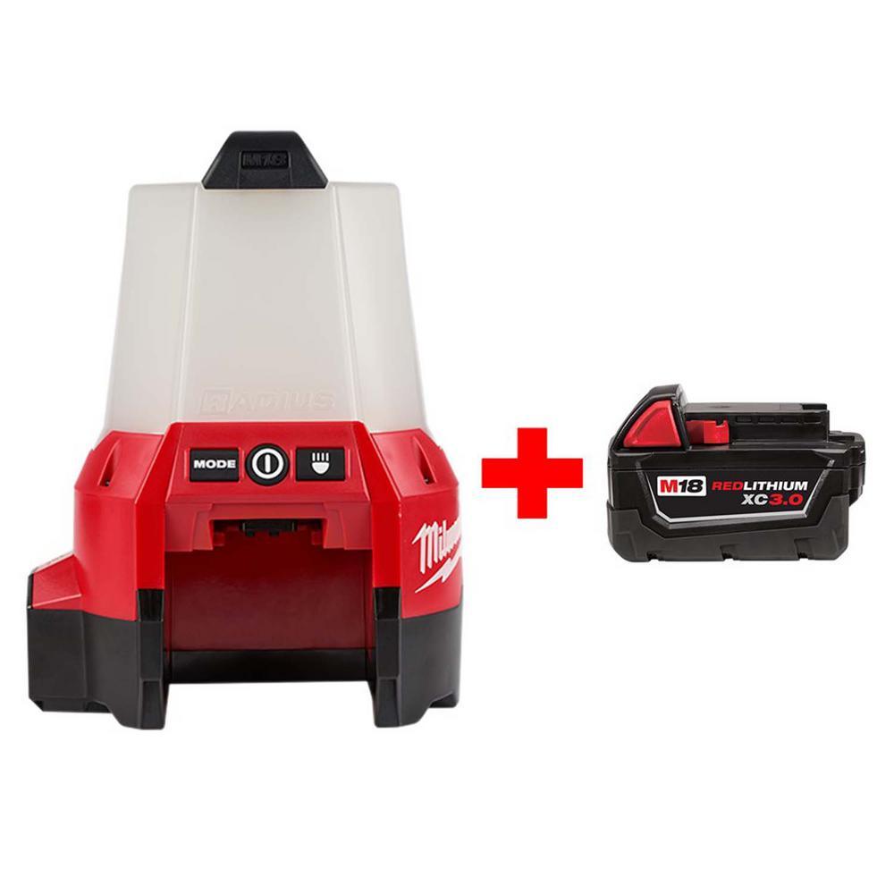 M18 18-Volt Cordless 2200-Lumen Radius LED Compact Site Light Bundle