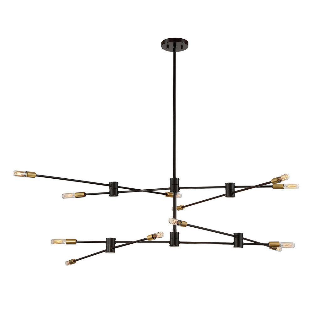 12-Light Bronze Chandelier