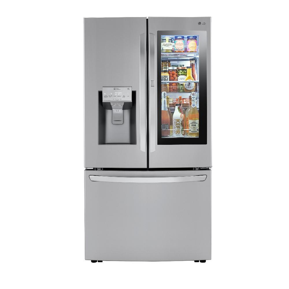 LG Electronics 29.7 cu. ft. Smart French Door Refrigerator, InstaView Door-In-Door, Dual Ice w/ Craft Ice in PrintProof Stainless Steel