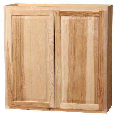 Hampton Assembled 36x36x12 in. Wall Kitchen Cabinet in Natural Hickory