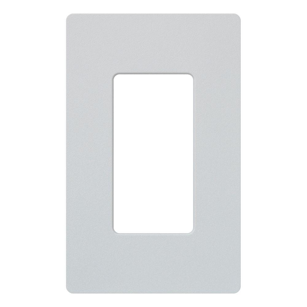 Claro 1 Gang Decora Wall Plate - Palladium