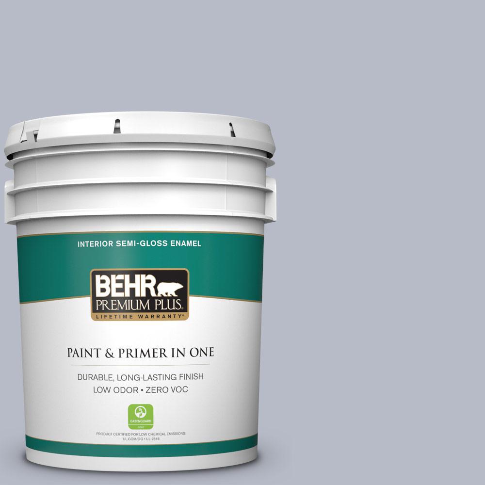 BEHR Premium Plus 5-gal. #620E-3 Silverado Trail Zero VOC Semi-Gloss Enamel Interior Paint
