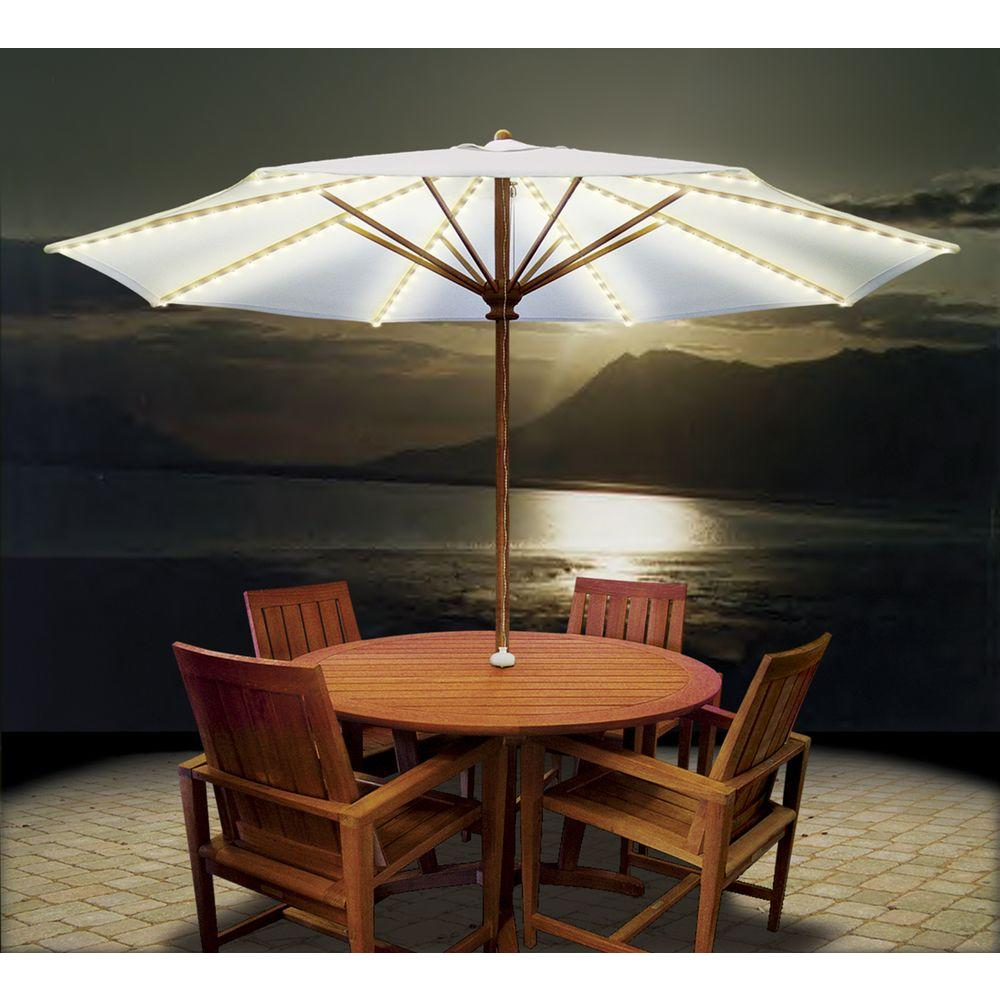 Attrayant Details About White Brella Lights Patio Umbrella Lighting System W/Power  Pod (8 Rib)Backyard