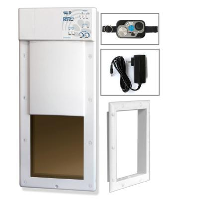 12 in. x 16 in. Power Pet Large Electronic Fully Automatic Dog and Cat Electric Pet Door for Pets Up to 100 lb.