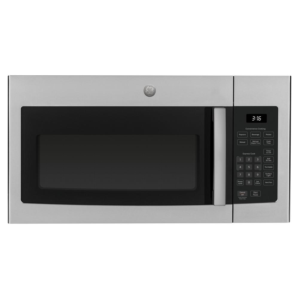 Ge 1 6 Cu Ft Over The Range Microwave In Stainless Steel Jvm3160rfss The Home Depot
