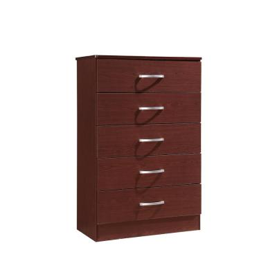 5-Drawer Mahogany Chest of Drawers