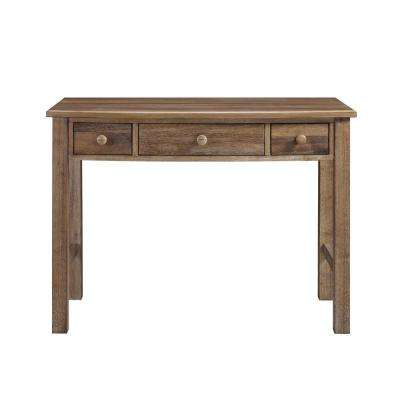 Brookline Natural Rustic 3-Drawer Desk