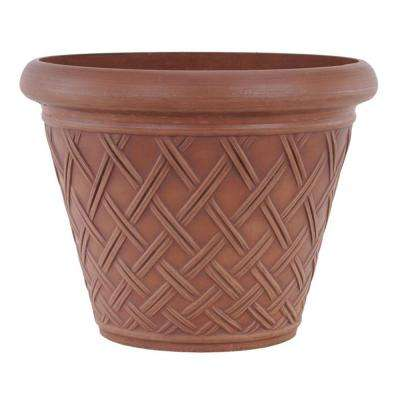 Basket Weave 18 in. x 14 in. Terra Cotta PSW Pot