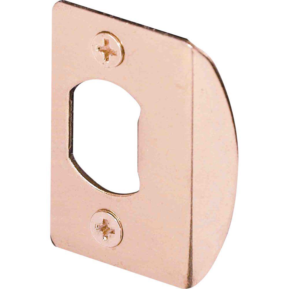 Prime-Line Brass Standard Deadlatch Door Strike Plate
