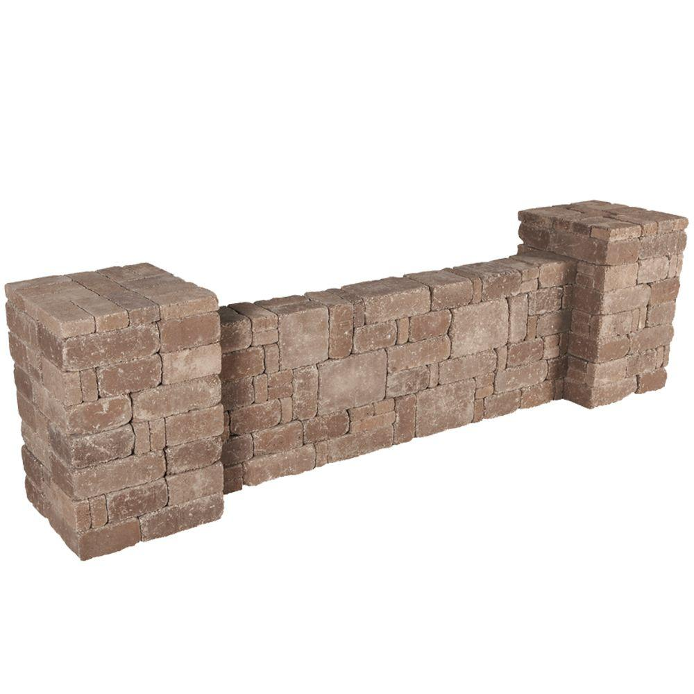 Pavestone Rumblestone RumbleStone 94.5 in. x 26 in. x 26 in. Column/Wall Kit in Cafe