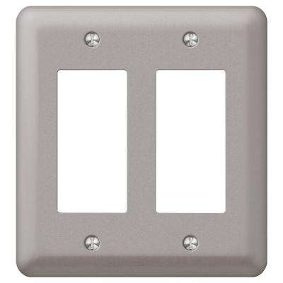 Declan 2 Rocker Wall Plate - Pewter