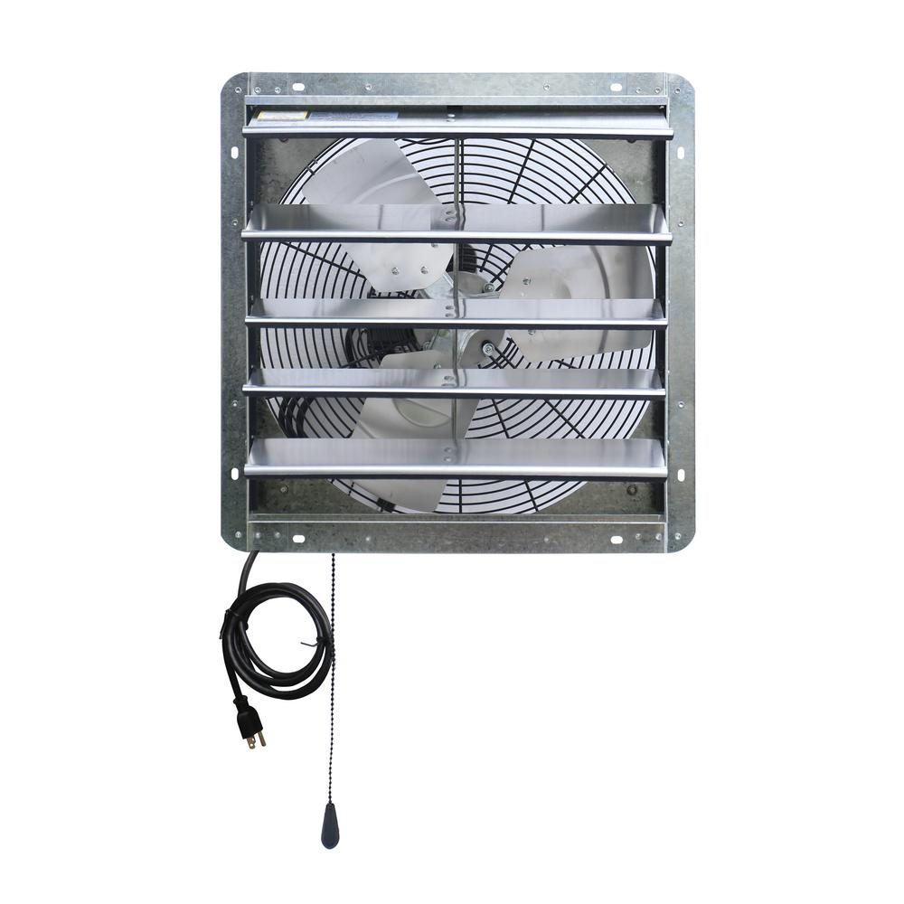 Variable Speed Corrosion Resistant Shutter Exhaust Fan 1750 CFM Power 18 in