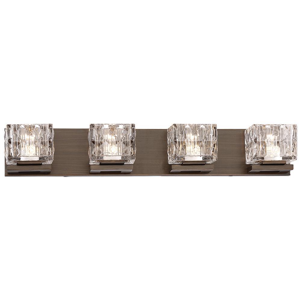 150-Watt Equivalent Metallic Bronze Integrated LED Bath Light
