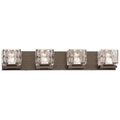 150-Watt Equivalent Metallic Bronze Integrated LED Bath Light