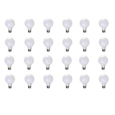 40-Watt Equivalent G25 Soft White Dimmable 25,000-Hour LED Light Bulb (24-Pack)