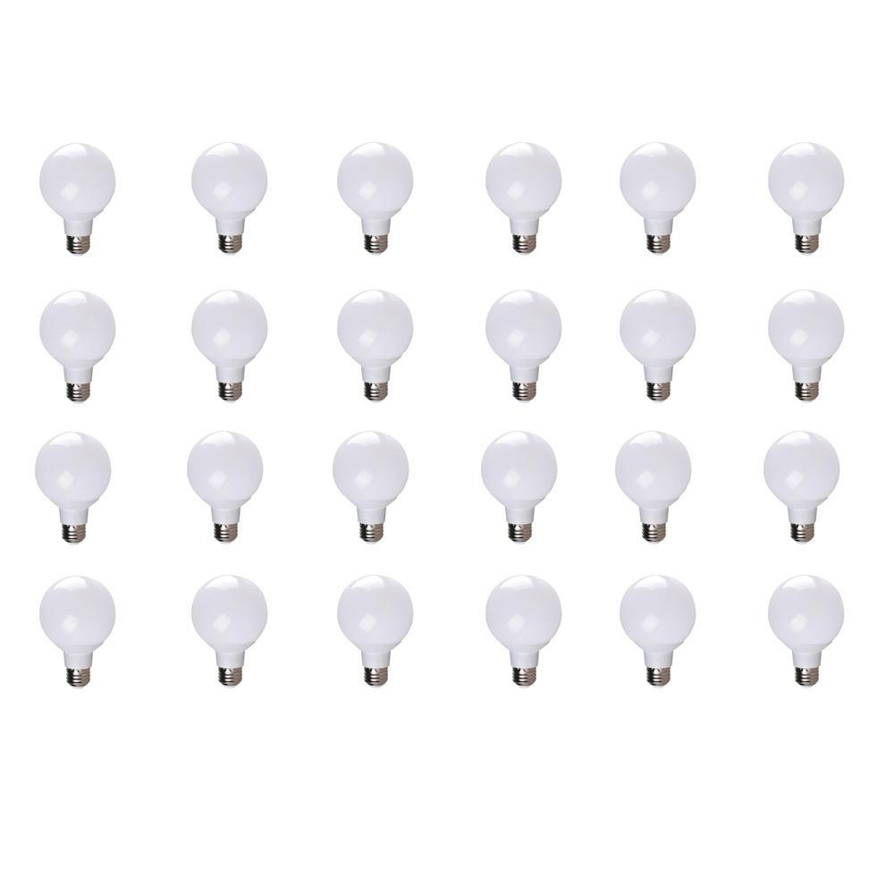 40-Watt Equivalent G25 Soft White Dimmable 25,000-Hour LED Light Bulb (24-Pack)