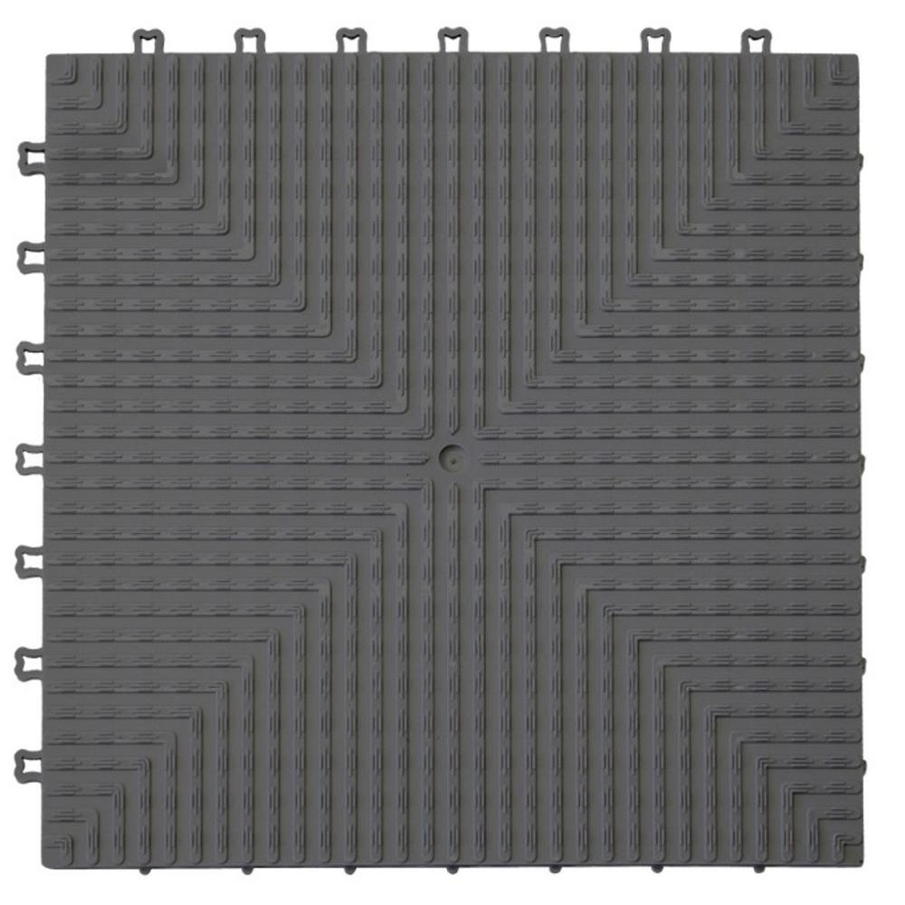 Proslat ProTile 12 in. x 12 in. Charcoal PE Garage and Utility Floor Tile (60 sq. ft. / case)