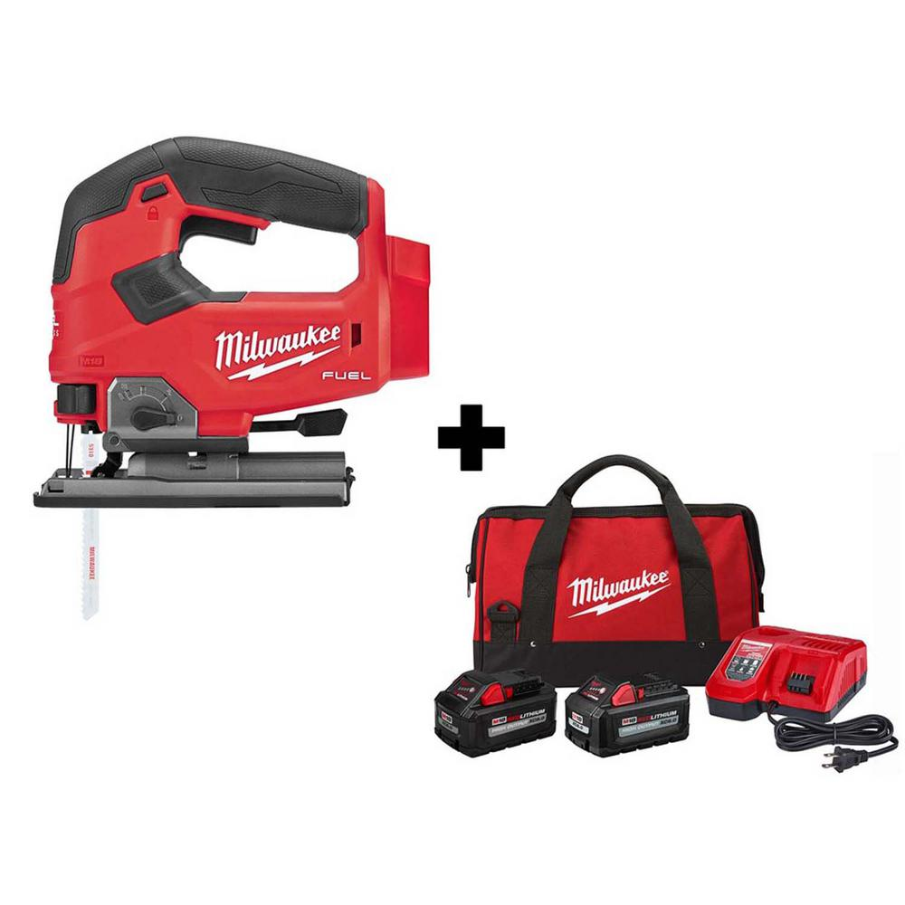 Milwaukee M18 FUEL 18-Volt Lithium-Ion Brushless Cordless Jigsaw with 8.0 Ah and 6.0 Ah HIGH OUTPUT Battery, Bag and Charger was $498.0 now $299.0 (40.0% off)