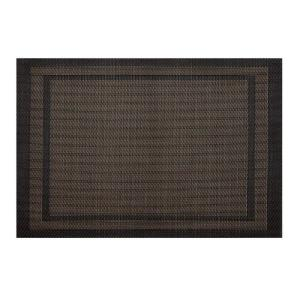 Kraftware EveryTable Double Border Brown and Bronze Placemat (Set of 12) by Kraftware