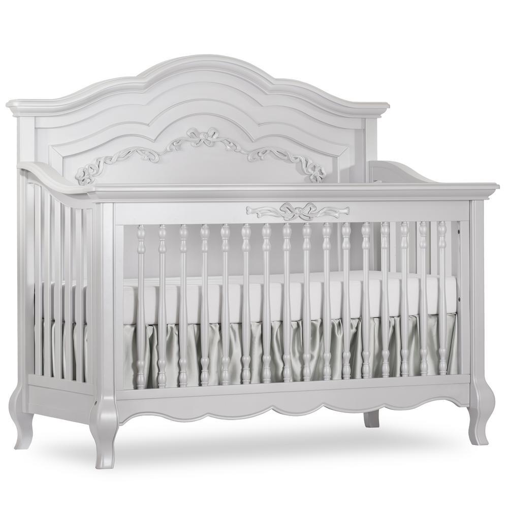 Aurora Akoya Grey Pearl 5-in-1 Convertible Crib