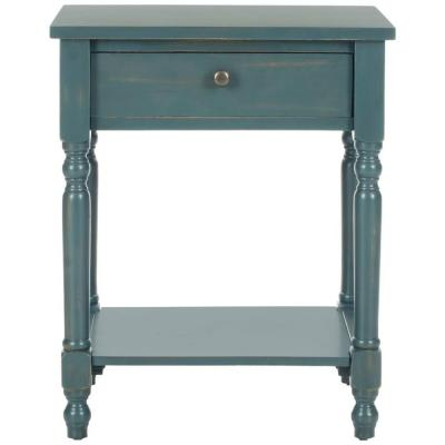 Tami Steel Teal Storage End Table