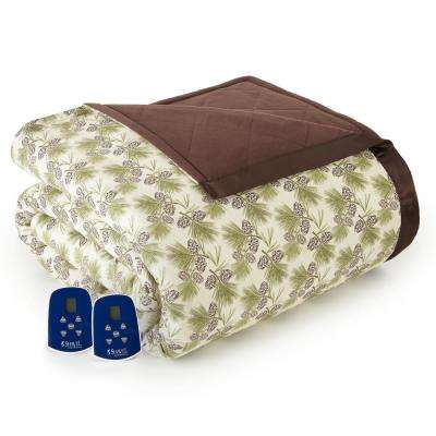 Twin Pinecone Electric Heated Comforter/Blanket