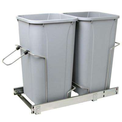 22.5 in. x 13.5 in. x 11.75 in. In Cabinet Pull Out Soft-Close 27 Qt. Trash Can