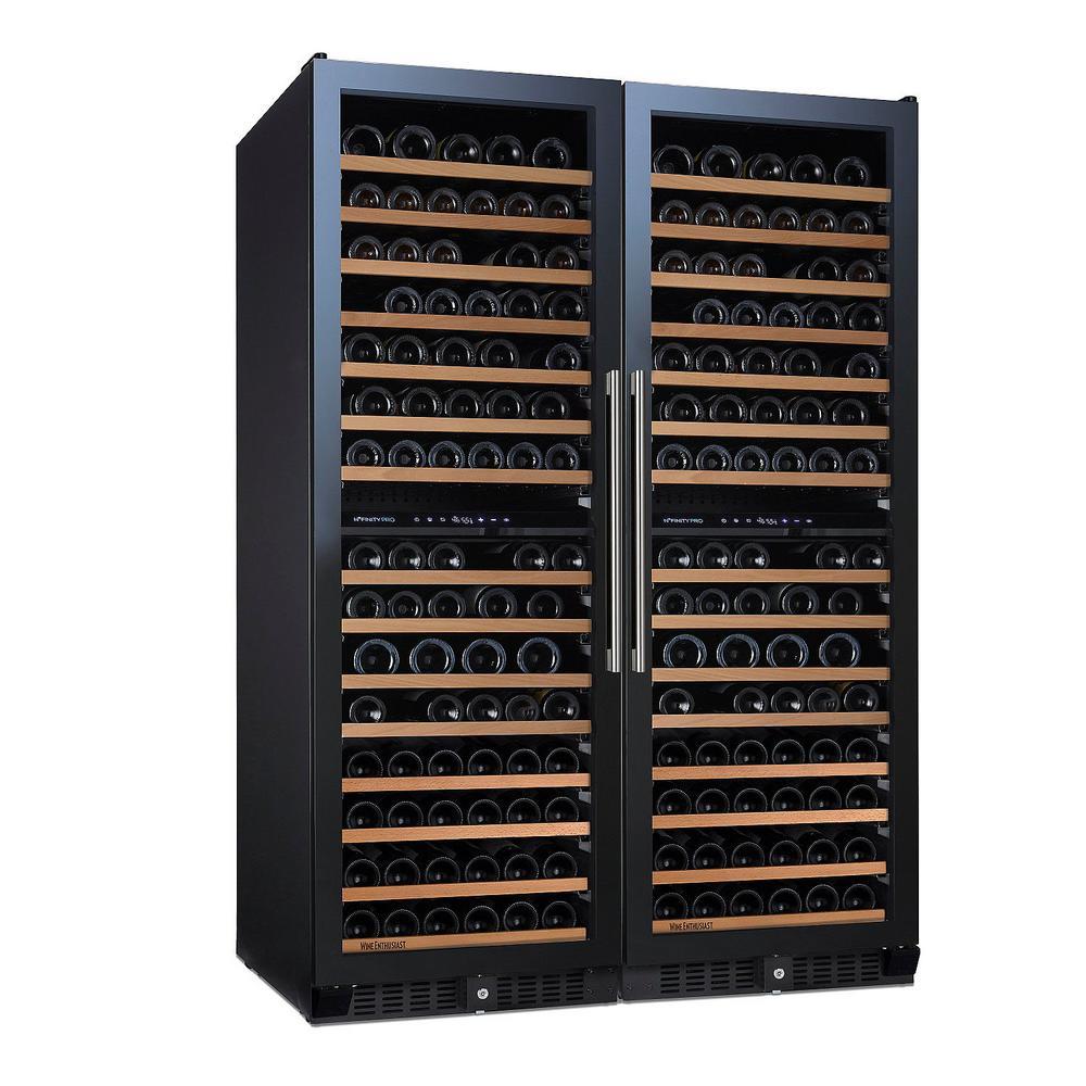 N'FINITY PRO Double L 332-Bottle 47.5 in. Freestanding Wine Cellar