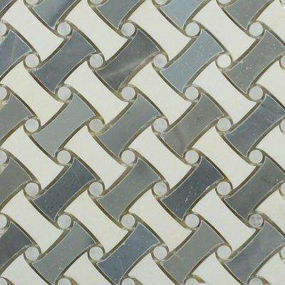 Pedigree Morning Mist Polished Marble Tile - 3 in. x 6 in. Tile Sample