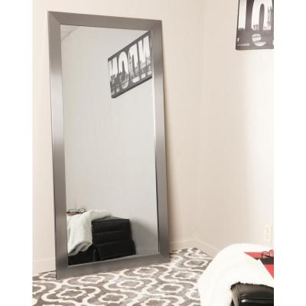 Modern Silver Tall Framed Mirror